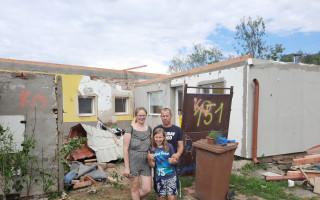 Pomoc pro rodinu Mariana Pavúčka, který má po tornádu dům určený k demolici