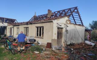 Pomoc rodině Křížových z Moravské Nové Vsi, kterou zasáhlo tornádo