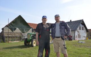 Podpora bratrů Petráňových, hasičů z obce Stebno, kterým downburst zničil domy, techniku i les