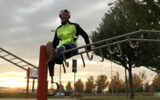 Ondrova běžecká protéza ze Spartan Race