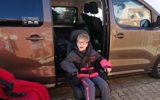 Flexi rampa a otočné sedadlo pro Michalku