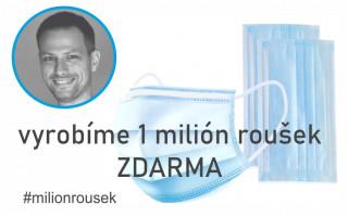 """Podpořme společně projekt """"1 milión roušek pro lékaře, seniory, školy a školky"""" #milionrousek"""
