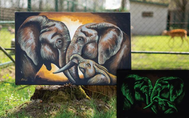 Kousek zoo v obýváku - Sloní rodina