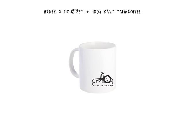 Hrnek s Mojžíšem + 100g kávy mamacoffee