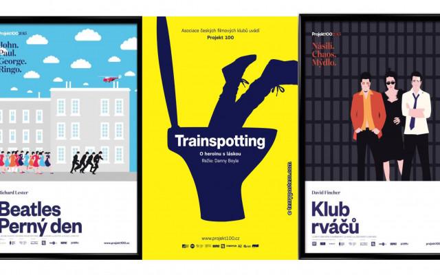 Sada originálních autorských plakátů k filmům Projektu 100
