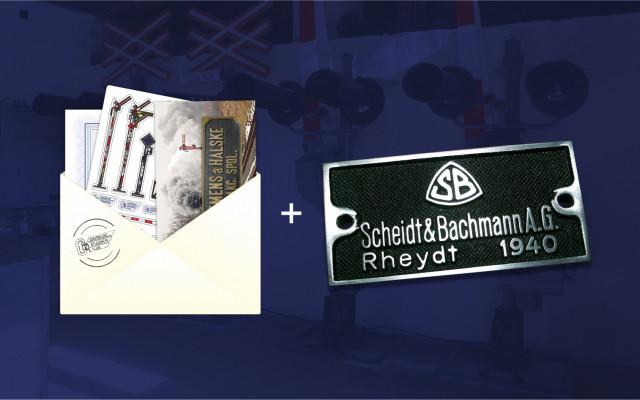 Poděkování předsedy spolku v listinné podobě + samolepky + magnetka + replika výrobního štítku