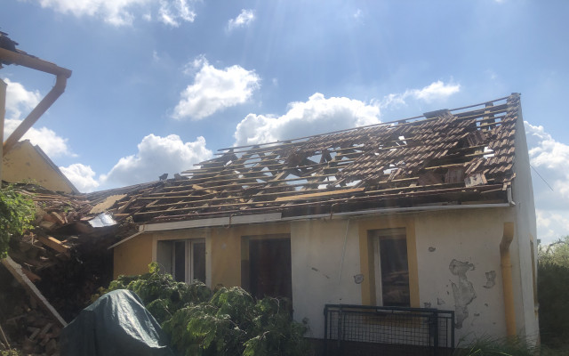 Pomoc rodině Kašíků po ničivém tornádu