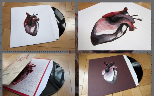 Limitovaná edice (každý kus je originál) LP Láska v ručním autorském obalu od Davida Kolovratníka