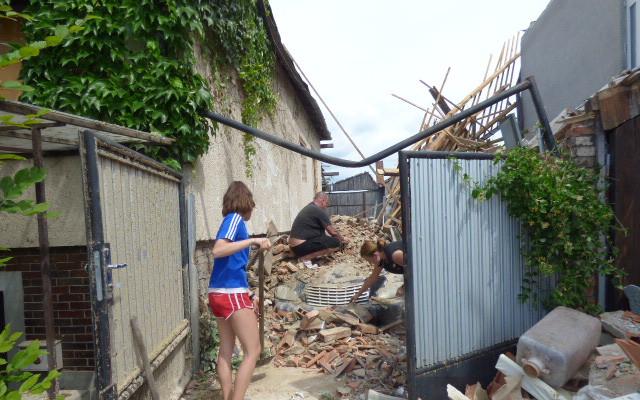 Pomoc šestičlenné rodině Kotáskú po zásahu Tornáda
