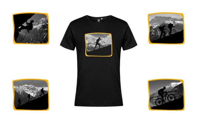 Horské tričko s krátkým a vybraným motivem