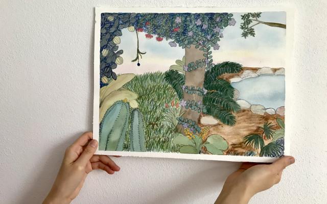 Originální obraz džungle