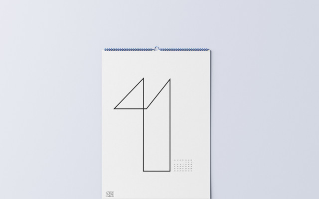 Minimalistický kalendář 2021