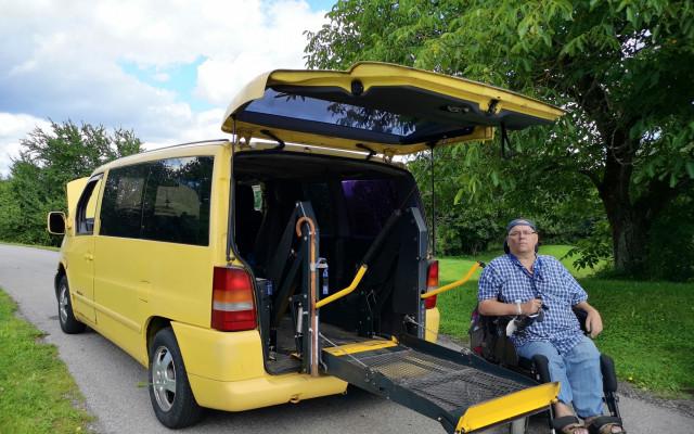 Auto se speciální úpravou pro Jiříka