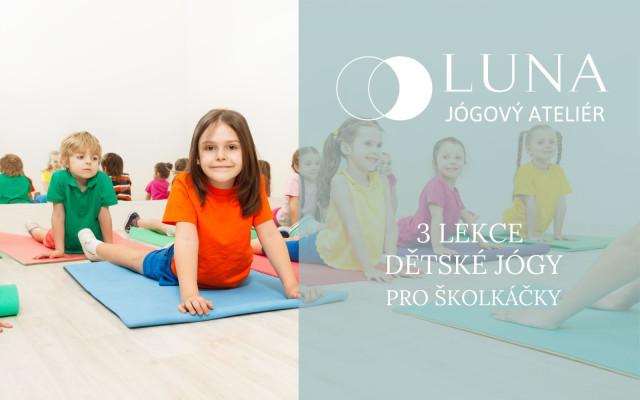 3 lekce dětské jógy pro věk cca 3-6 let