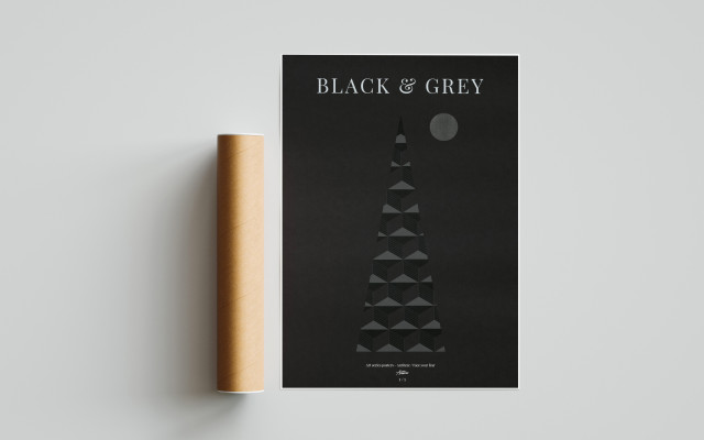 Autorský plakát Black & Grey