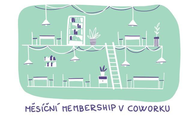 Měsíční členství v coworku