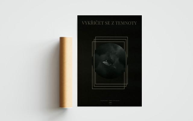 Autorský plakát Vykřičet se z temnoty
