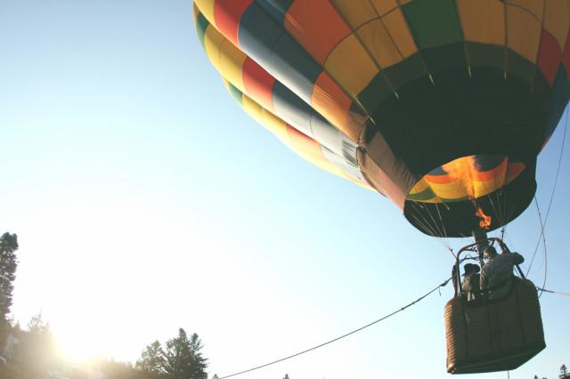 Za podporu psího hospice let balonem