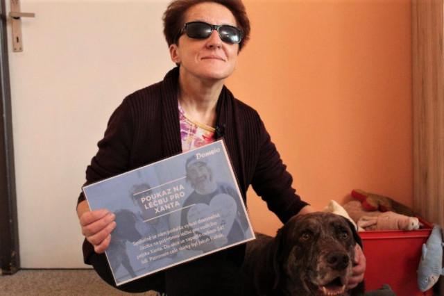 Za léčbu vodícího psa Xanta setkání s Jakubem Kohákem