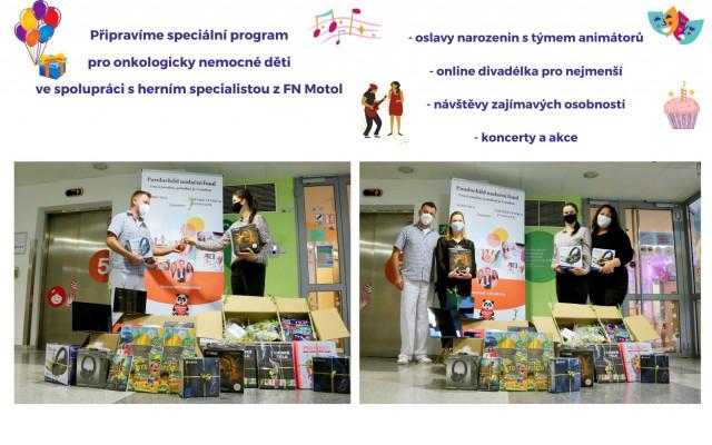 Pomozme přinést radost vážně nemocným dětem do nemocnic