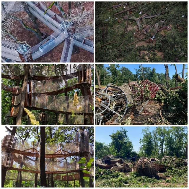 Pomoc na obnovu 3D Bludiště v Hodoníně, které bylo totálně zničeno tornádem
