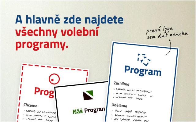 """Pomozme rozšířit projekt """"Programy do voleb"""" mezi lidi"""