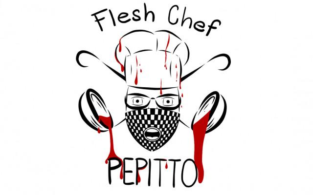 Kuchařská zástěra s logem Flesh Chef Pepitto