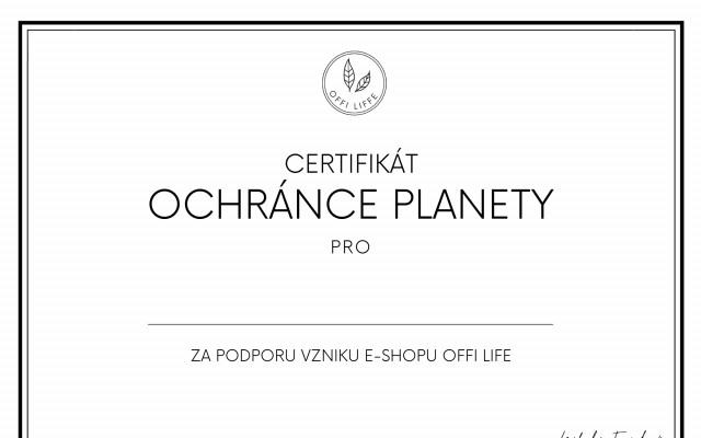Skvělý pocit a Certifikát ochránce planety