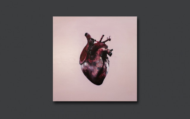 LP Láska a ilustrace k obalu LP Láska – olej na plátně 100x100 cm