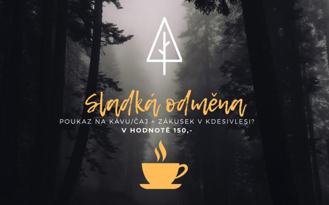 Poukaz na kávu/čaj + zákusek v KdesiVlesi?