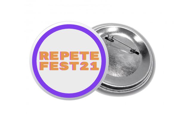 Placky REPETE FESTU (oranžový nápis)