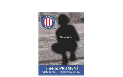 Kartičky TJ Břevnov s vaší vlastní fotografií a jménem.