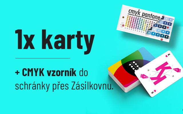 CMYK cards do schránky a vzorník CMYK