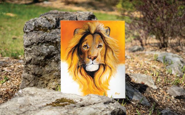 Kousek zoo v obýváku - Bílý král
