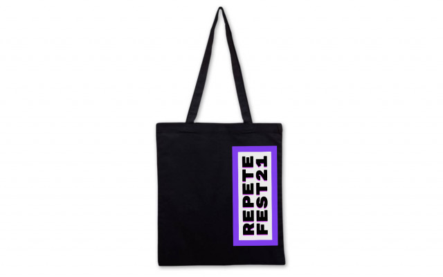 Festivalové látkové tašky (černá varianta)