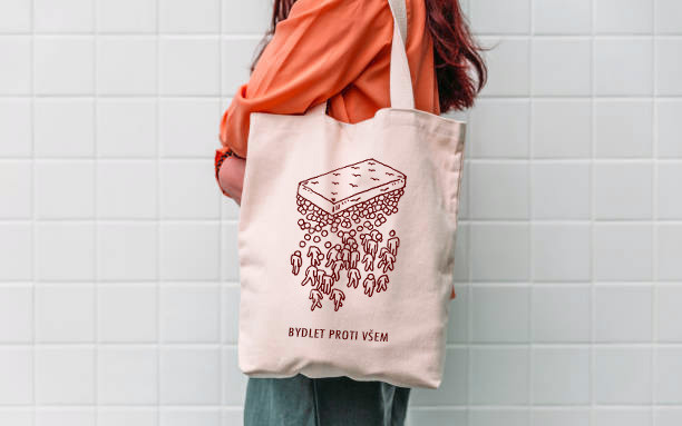 Plátěná taška Bydlet proti všem