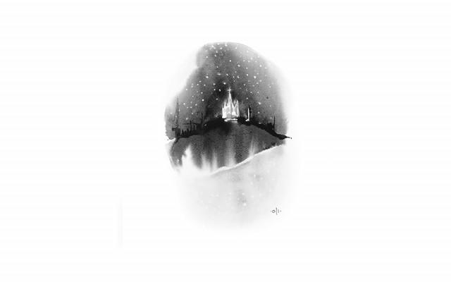Digitální tisk č.8 originálu akvarelu od Oli Divišové z roku 2017