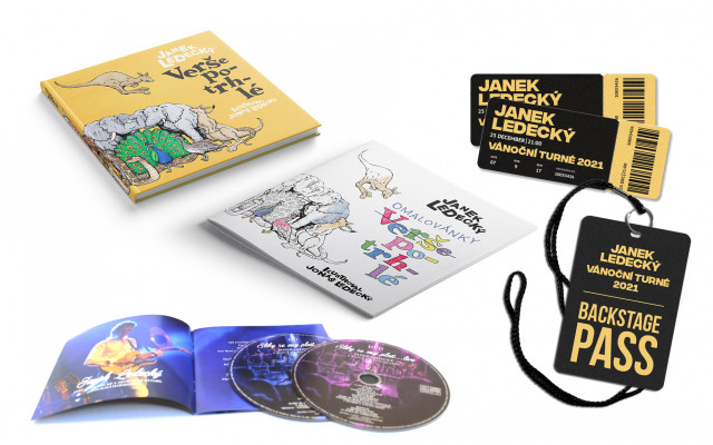 Speciální vánoční edice: Kniha Verše potrhlé, omalovánky, vánoční CD + DVD Janka Ledeckého, 2 vstupenky na koncert v Jihlavě s možností navštívit backstage