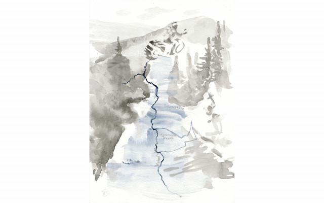 Akvarel Ireny Friessové Stanevy