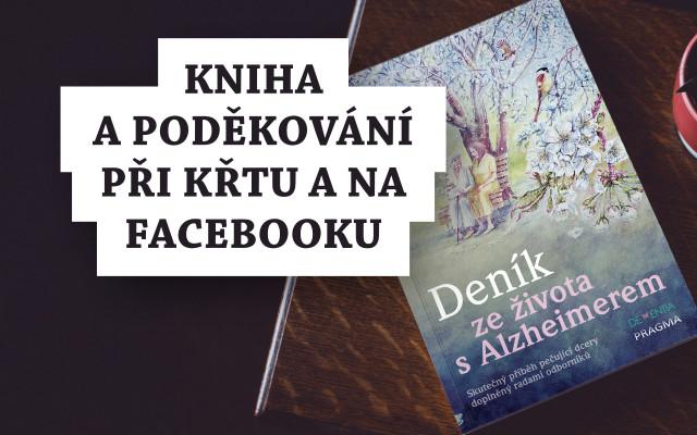 Kniha a poděkování při křtu a na Facebooku