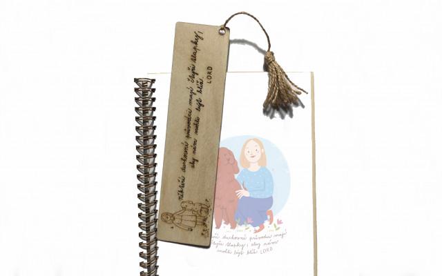Kniha Lord a dřevěná záložka do knihy