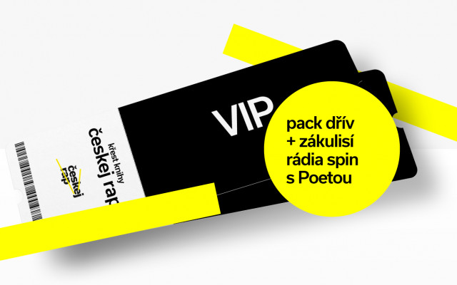 Chci dvě VIP vstupenky na křest, PACK s přednostním dodáním a podívat se do rapového rádia Spin
