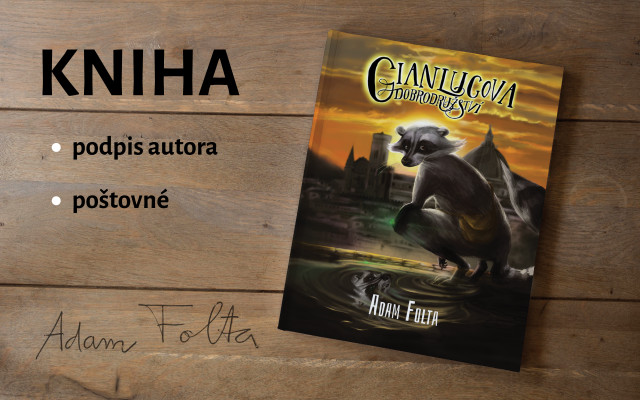 Kniha Gianlucova dobrodružství s podpisem autora