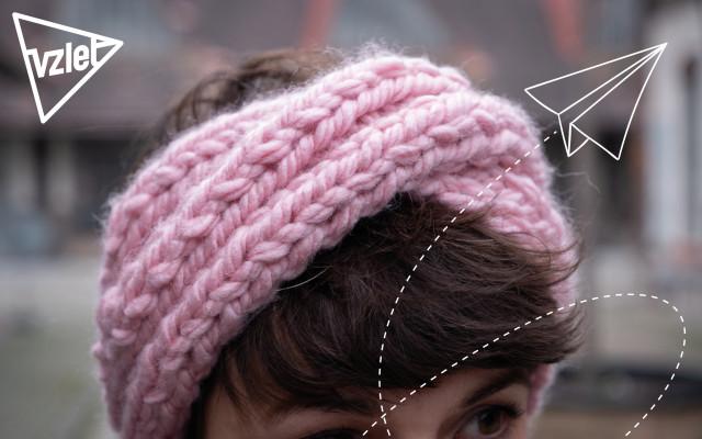 Ručně pletená čelenka od Žandy