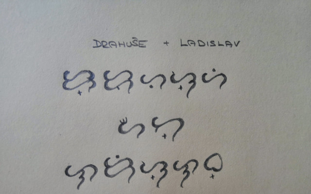 JMÉNO vás a vašeho partnera - ručně psané v BAYBAYIN