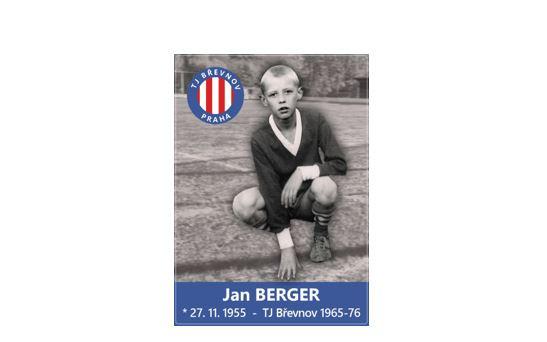 PODEPSANÁ fotbalová kartička s Janem Bergerem