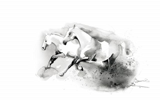 Digitální tisk č.4 originálu akvarelu od Oli Divišové z roku 2017