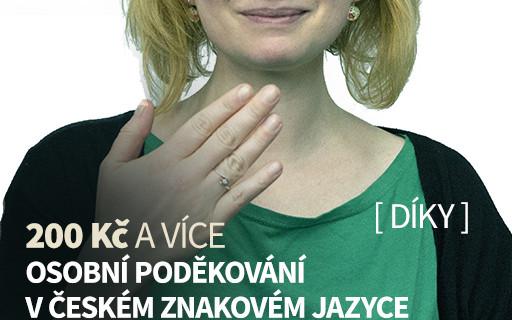 Osobní poděkování v českém znakovém jazyce