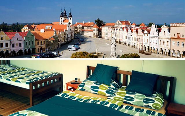 Víkendový pobyt pro 2-4 osoby v penzionu na náměstí v Telči, poděkování v závěrečných titulcích, pozvánka na premiérové promítání