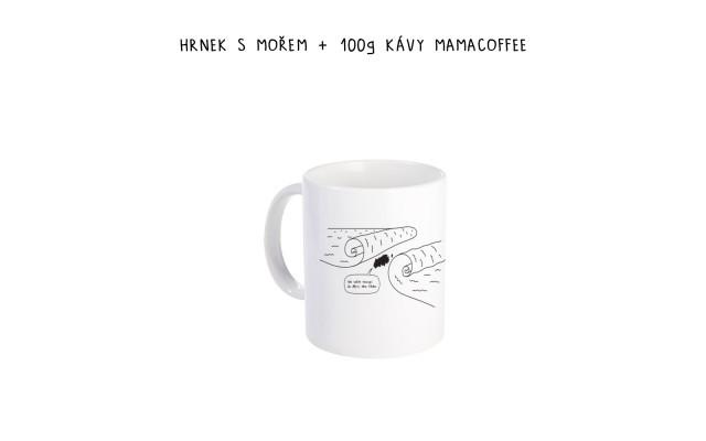 Hrnek s mořem + 100g kávy mamacoffee